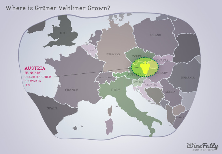 Gruner Veltliner Grown Map