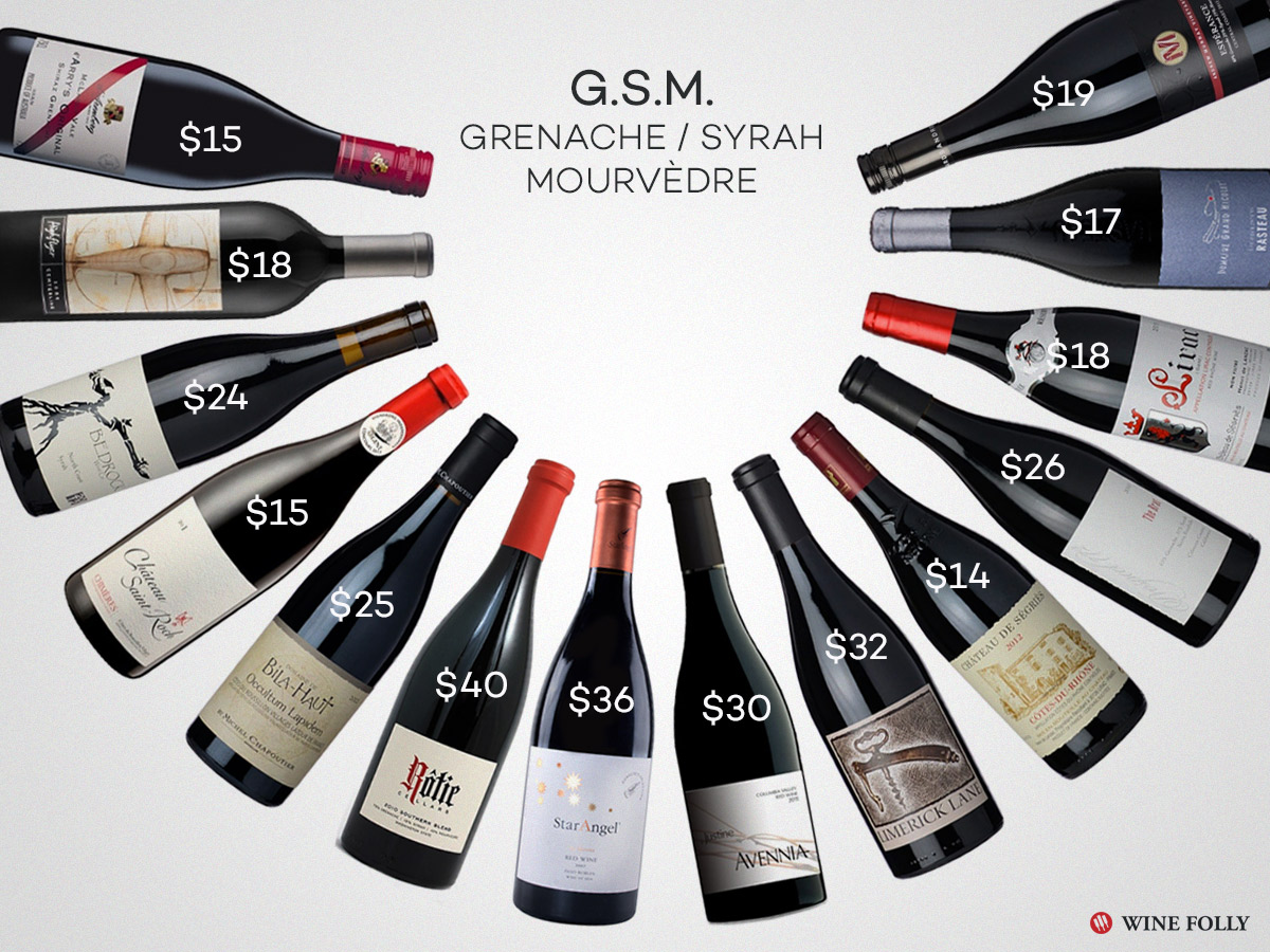 Best GSM Grenache Syrah Mourvedre wines for fall