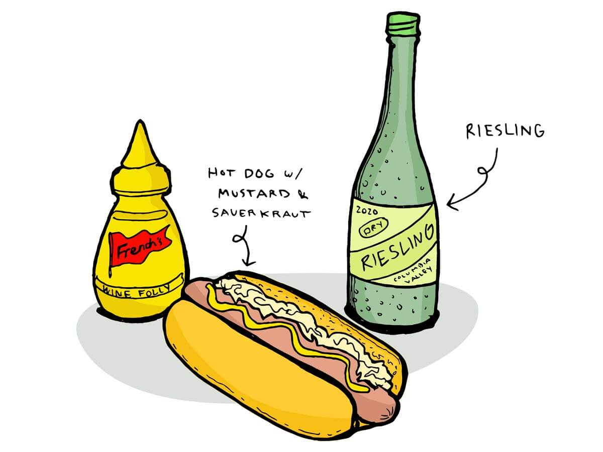 wine pairing with hot dogs