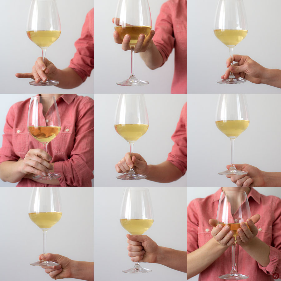 Various Ways to Hold a Wine Glass
