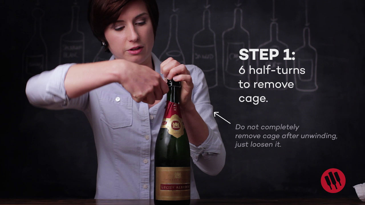 step 1: how to open champagne and other sparkling wine