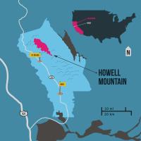 Howell Mountain Napa AVA map