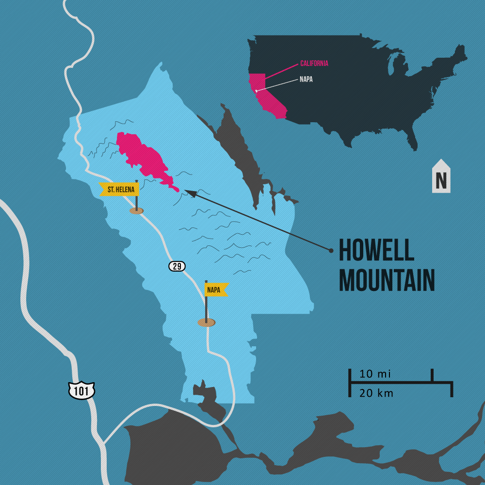 Howell Mountain Napa AVA map