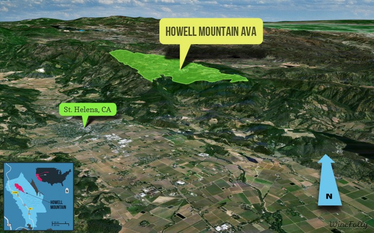 howell mountain wine region map napa