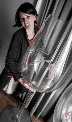 Huge Wine Glass Madeline Puckette of Wine Folly in Portugal