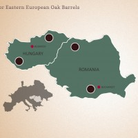 Hungarian Eastern European Oak Barrels Forest Map