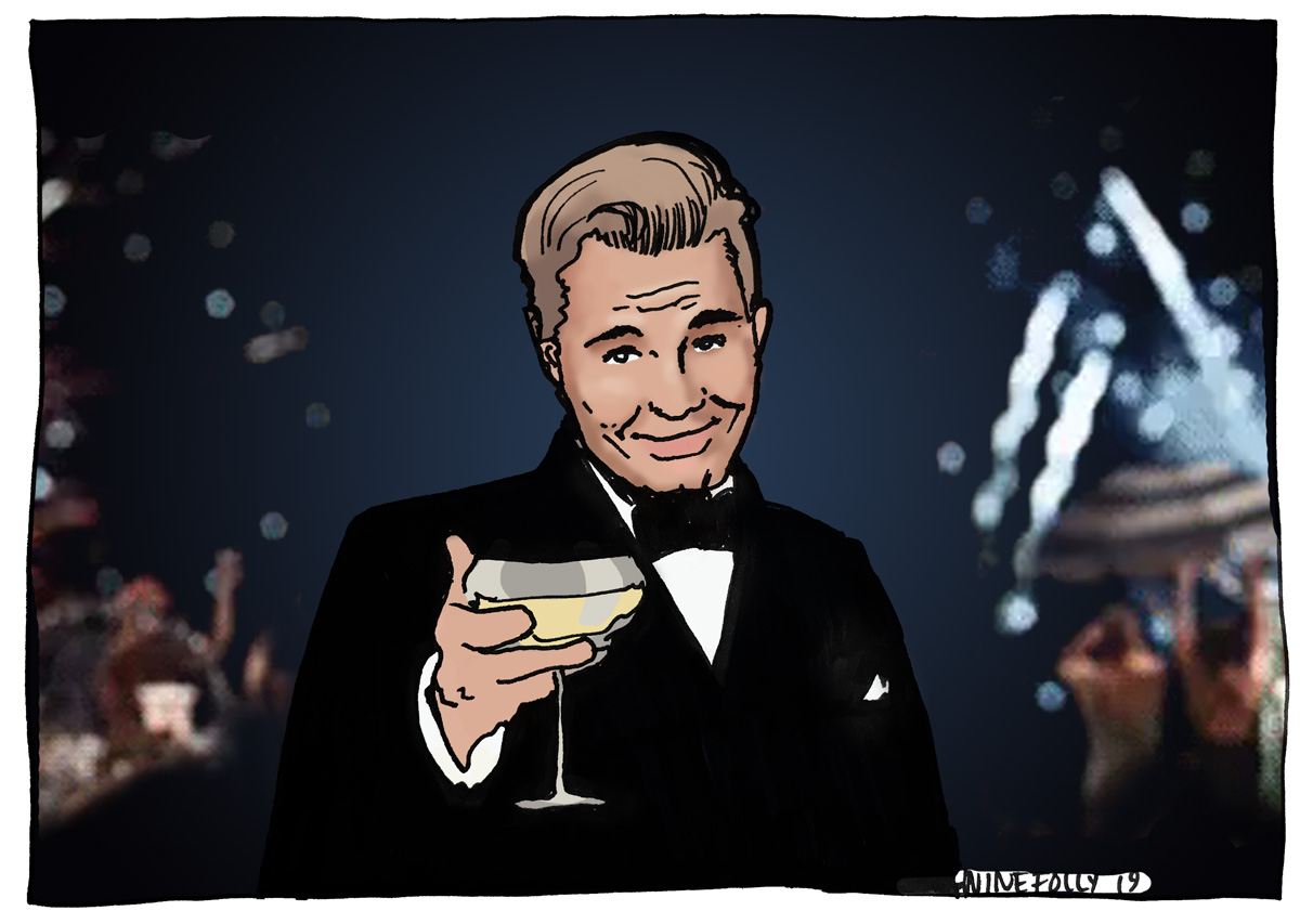 Jay Gatsby - Drink Champagne - Illustration by Wine Folly