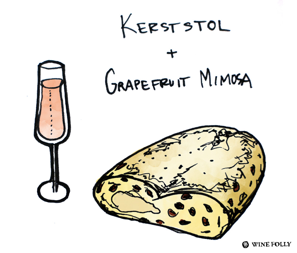 kerststol-mimosa-illustration
