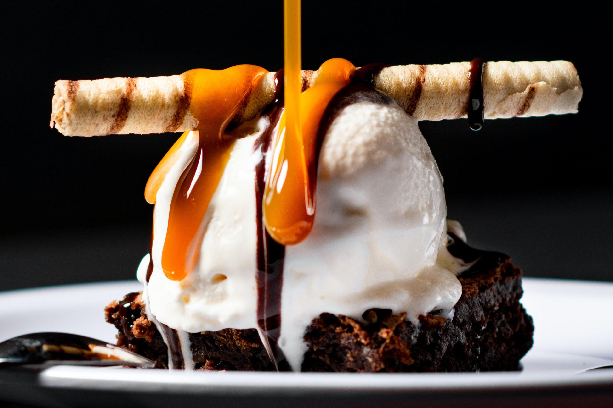 An ice cream sundae.