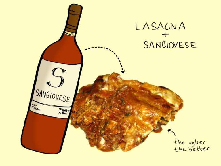 lasagna-and-sangiovese-winefolly