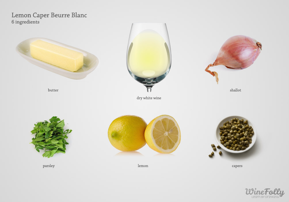 Lemon Caper Butter Sauce Recipe (beurre blanc)