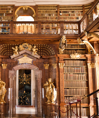 The Library archives at Melk Abbey