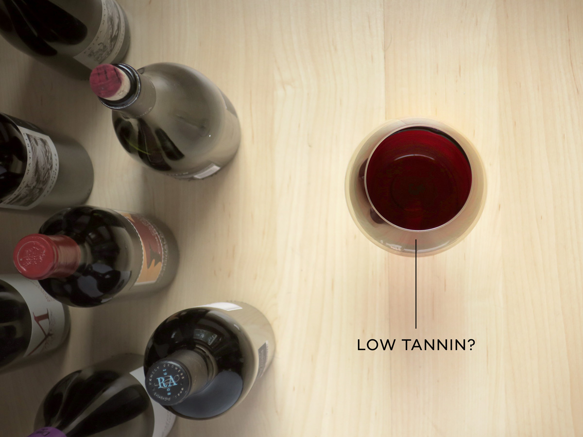 How to Find Low Tannin Wines and Information About Tannin by Wine Folly