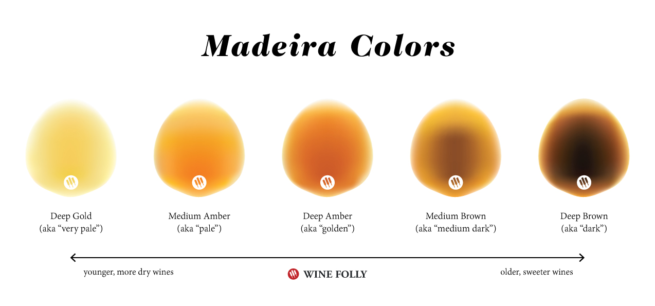 Madeira Wine Colors - Terms - copyright Wine Folly 2019