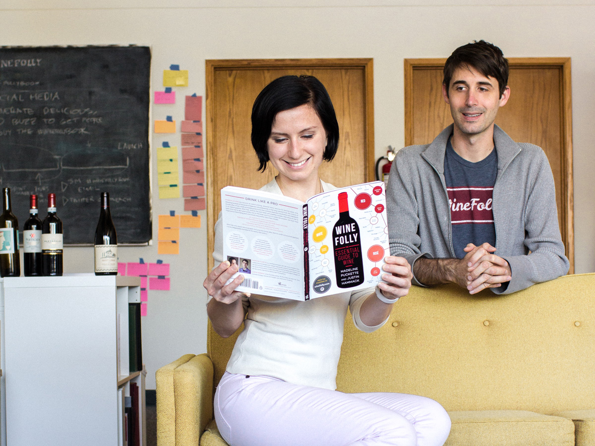 Madeline Puckette and Justin Hammack, co-authors of Wine Folly Book
