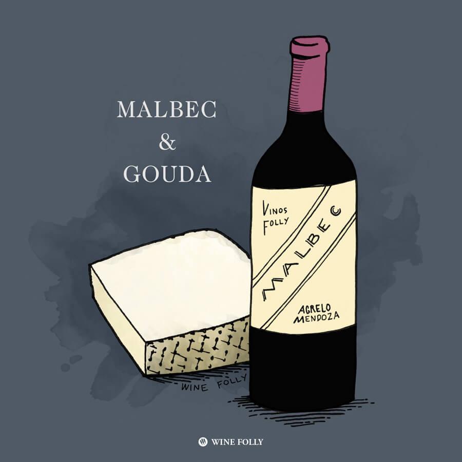 malbec-gouda-wine-cheese-pairing
