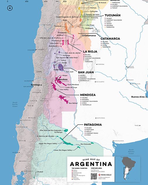Wine Map of Argentina