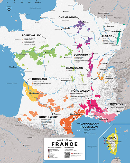 Wine Map of France by Wine Folly