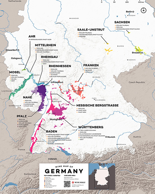 Wine map of Germany - Wine Folly