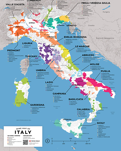wine map of Italy - Wine Folly