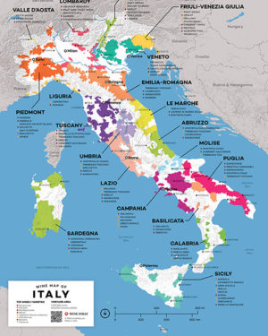 wine map of italy - small