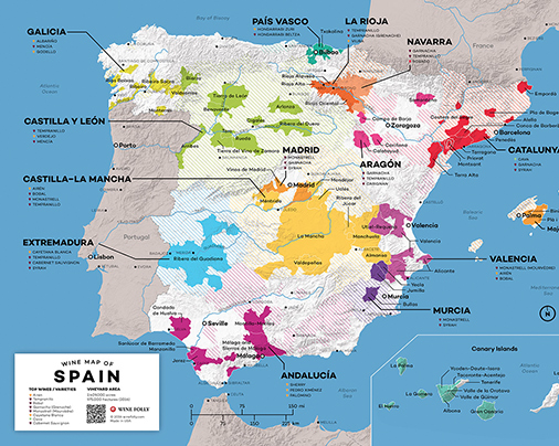 Wine Map of Spain - Wine Folly