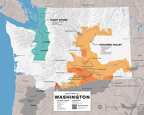 Wine Map of Washington State - Wine Folly