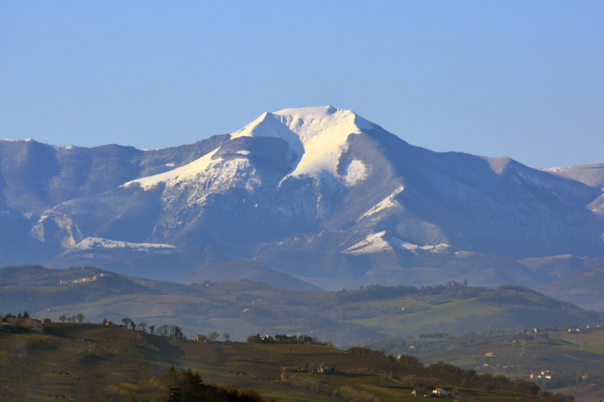 Monte Catria above Marche, Italy.