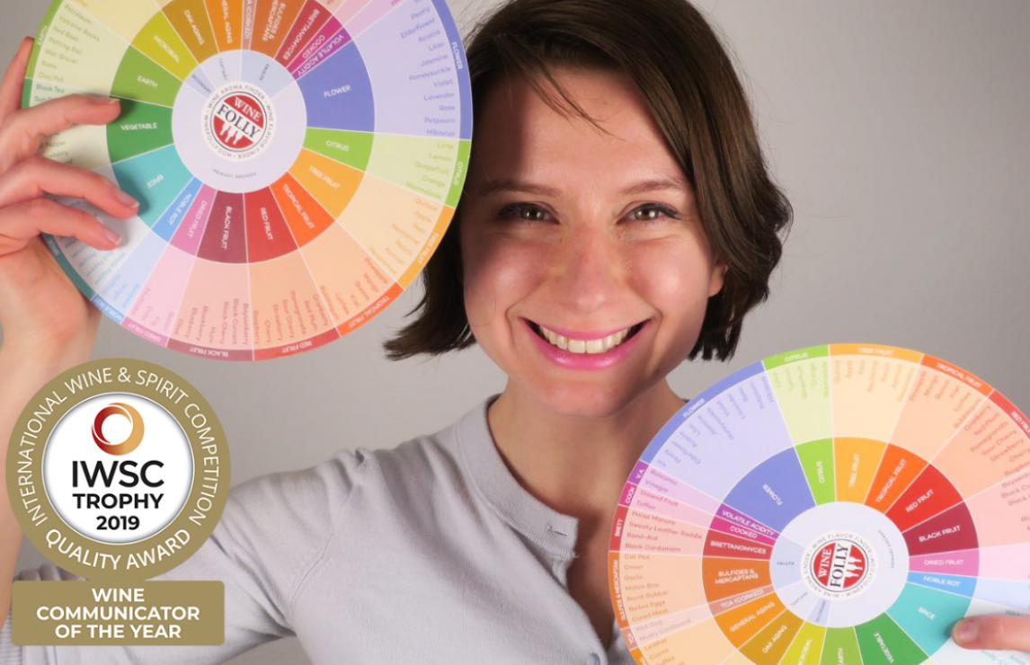 Madeline Puckette - wins IWSC award - Wine Communicator of the Year 2019