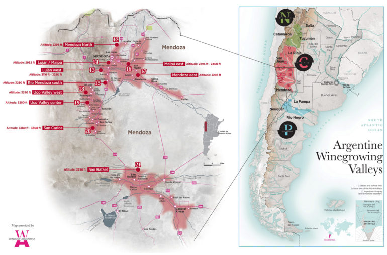 Mendoza Wine Country, detailed sub-regional comparison by Wine Folly