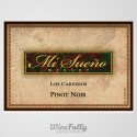 mi sueno pinot noir los carneros bottle label