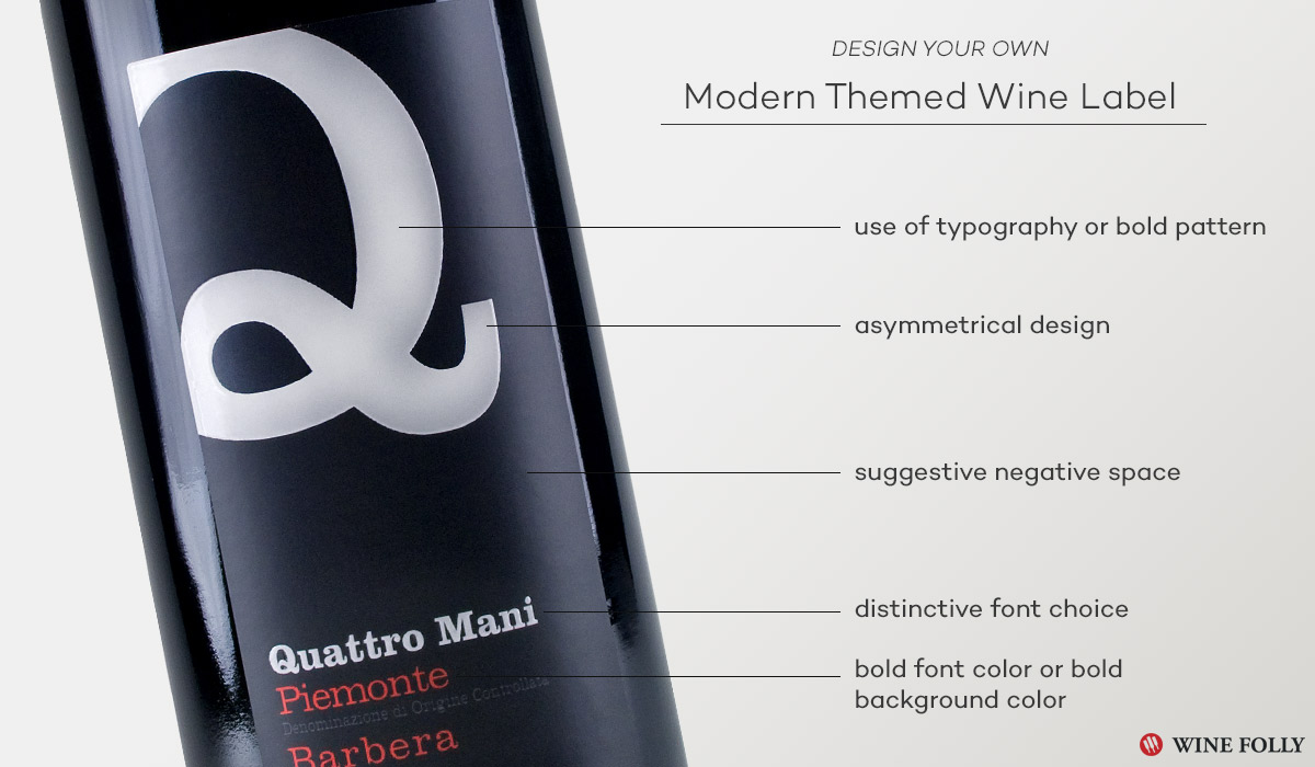 Modern Wine Label Design inspiration