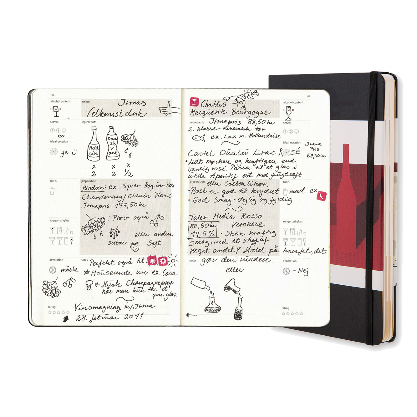 Moleskin Wine Note Taking Journal