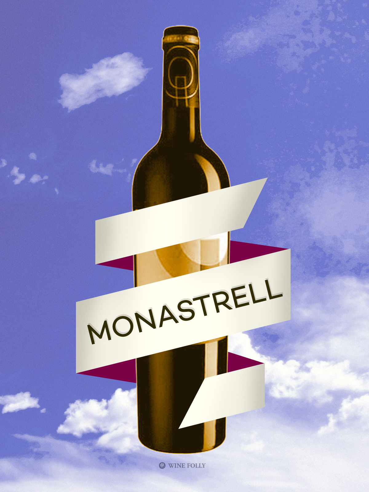 Monastrell wine bottle illustration by Wine Folly