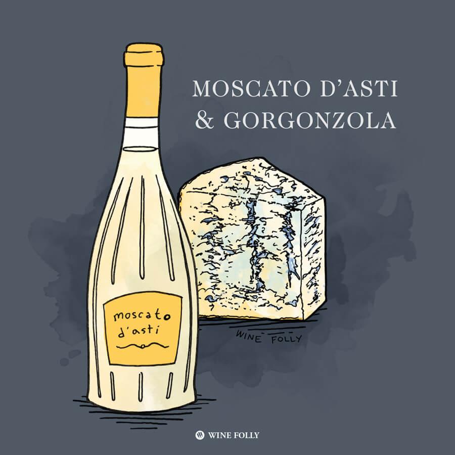moscato-gorgonzola-cheese-pairing