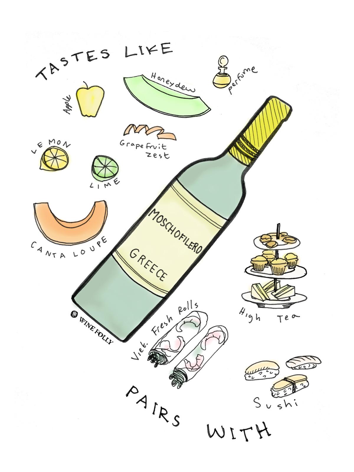 Moschofilero White Wine taste profile