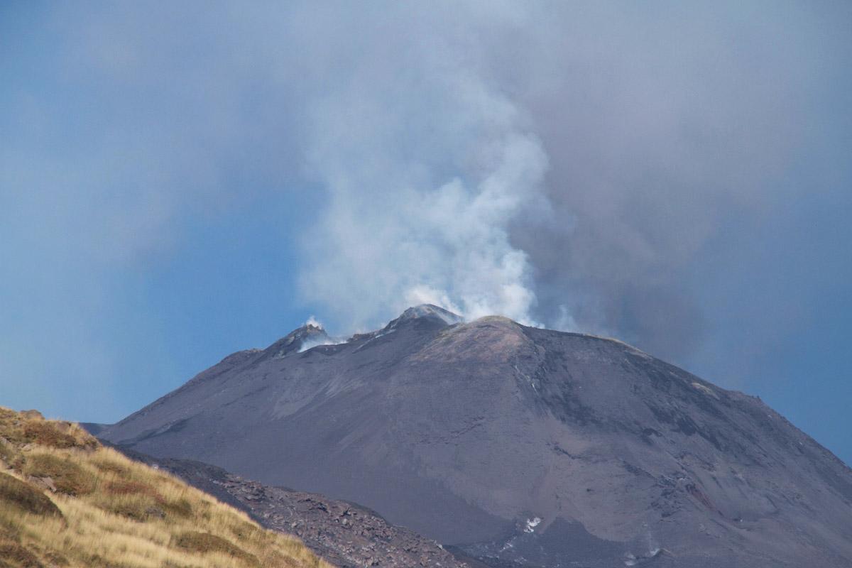 The volcano Mount Etna in Italy.