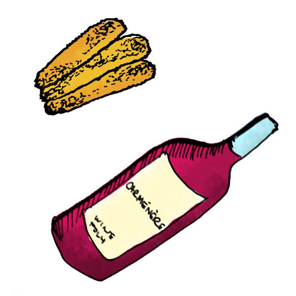 mozzarella-sticks-and-carmenere-wine