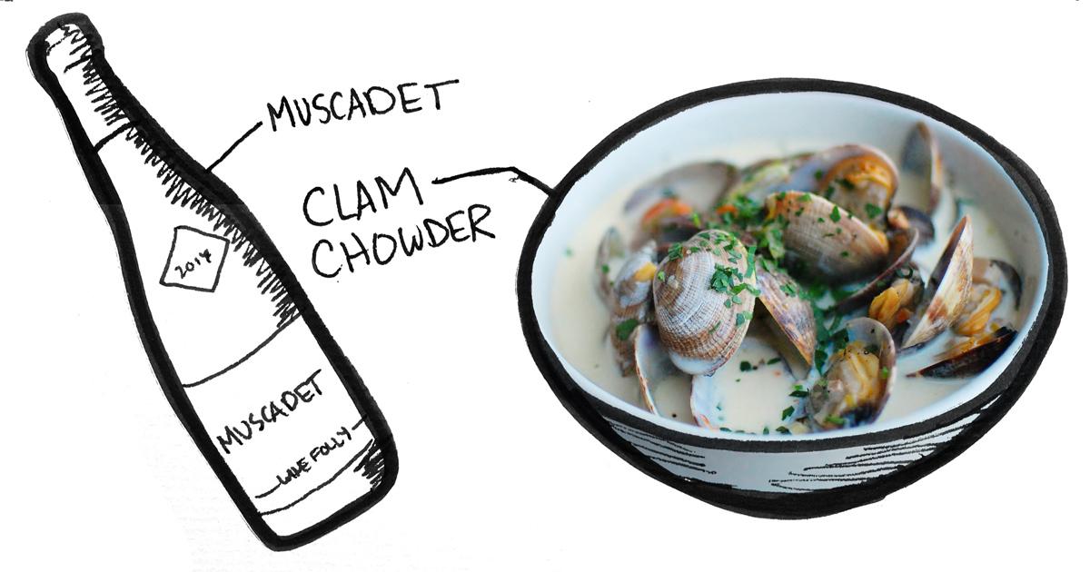 muscadet-clam-chowder-pairing-winefolly-illustration