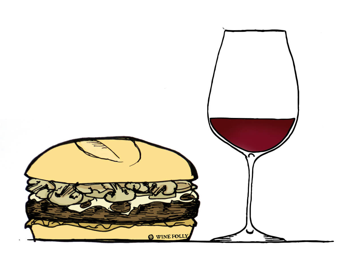 mushroom-burger-wine-pairing-winefolly