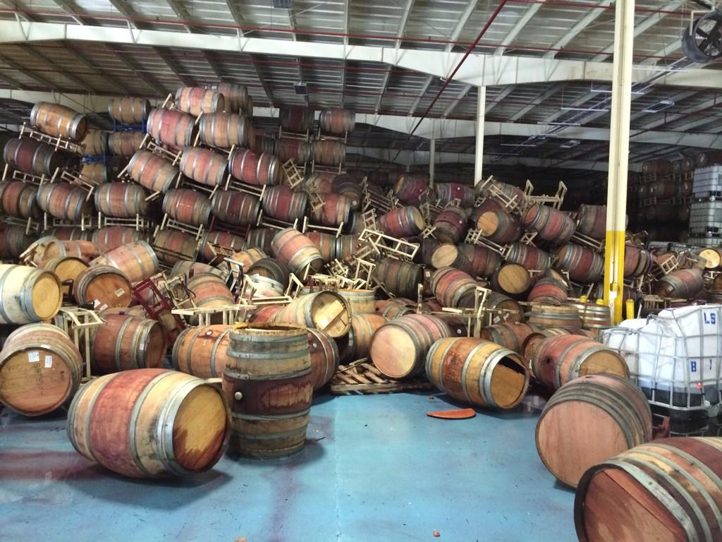 Napa Earthquake hits Napa Barrel Care 2014