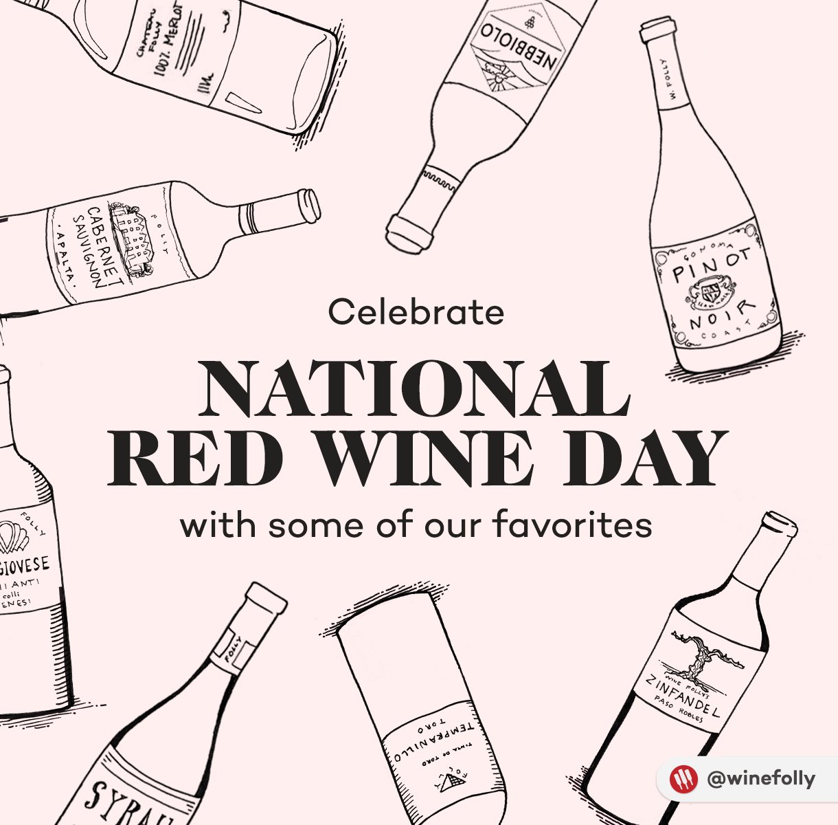 National Red Wine Day - Illustration by Wine Folly