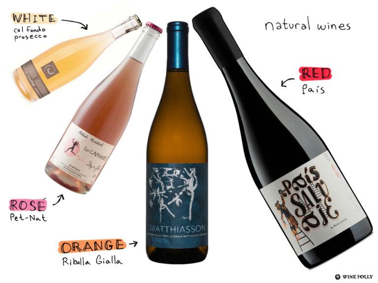 pais, ribolla gialla, pet-nat, col fondo prosecco are examples of natural wines