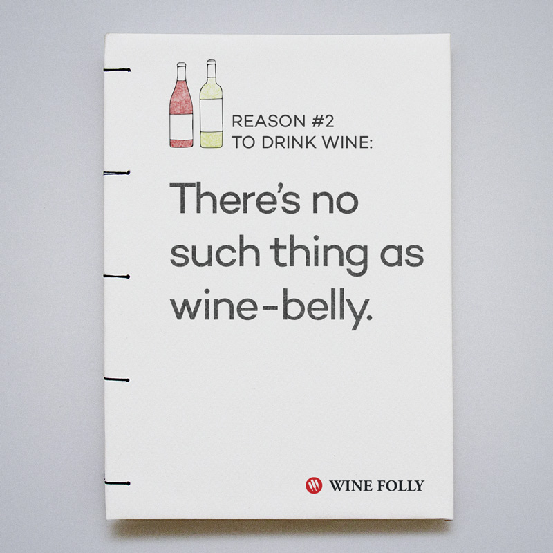 There's no such thing as wine-belly