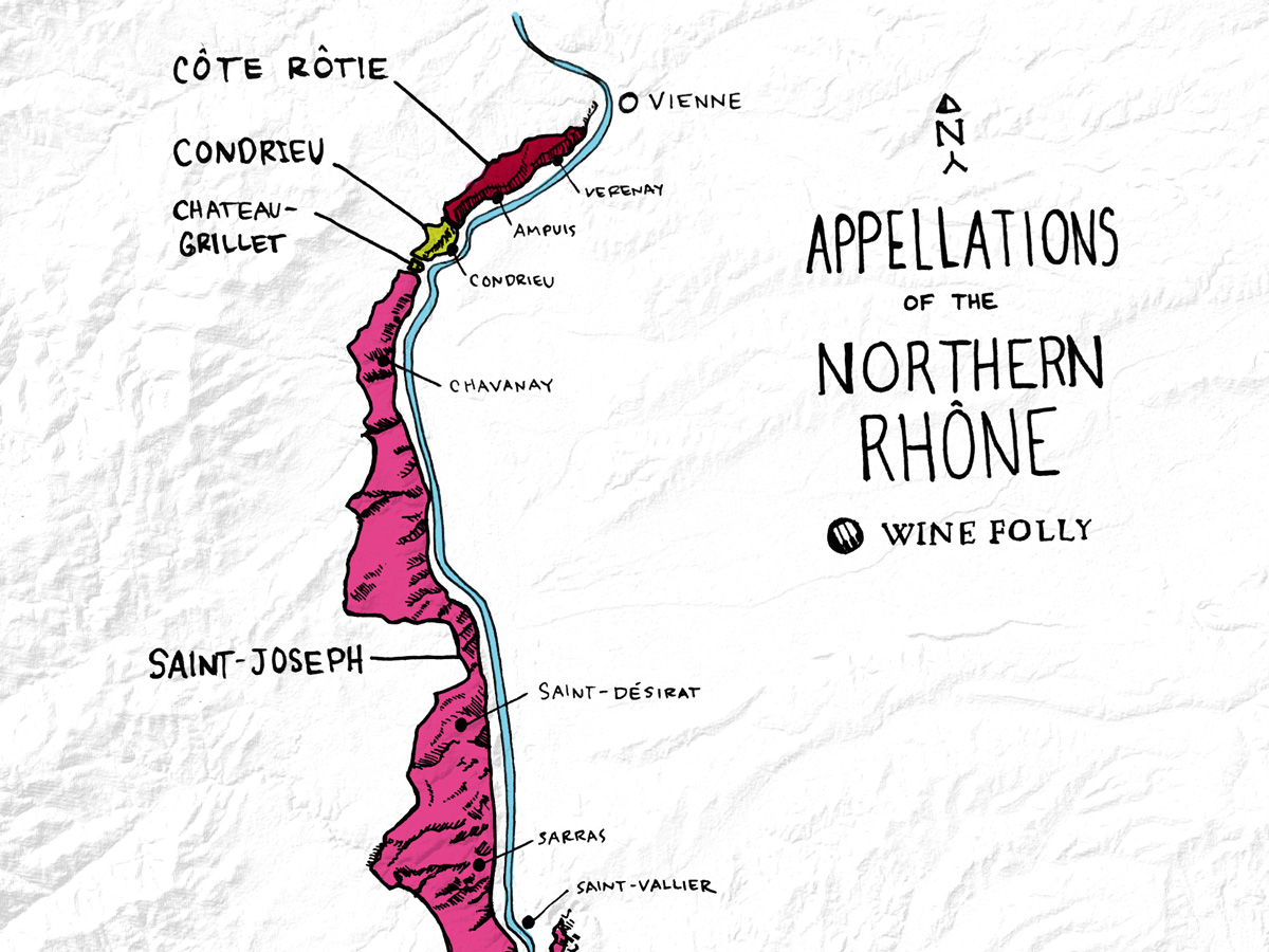 Map Of France North.Northern Rhone Wine The Land Of French Syrah