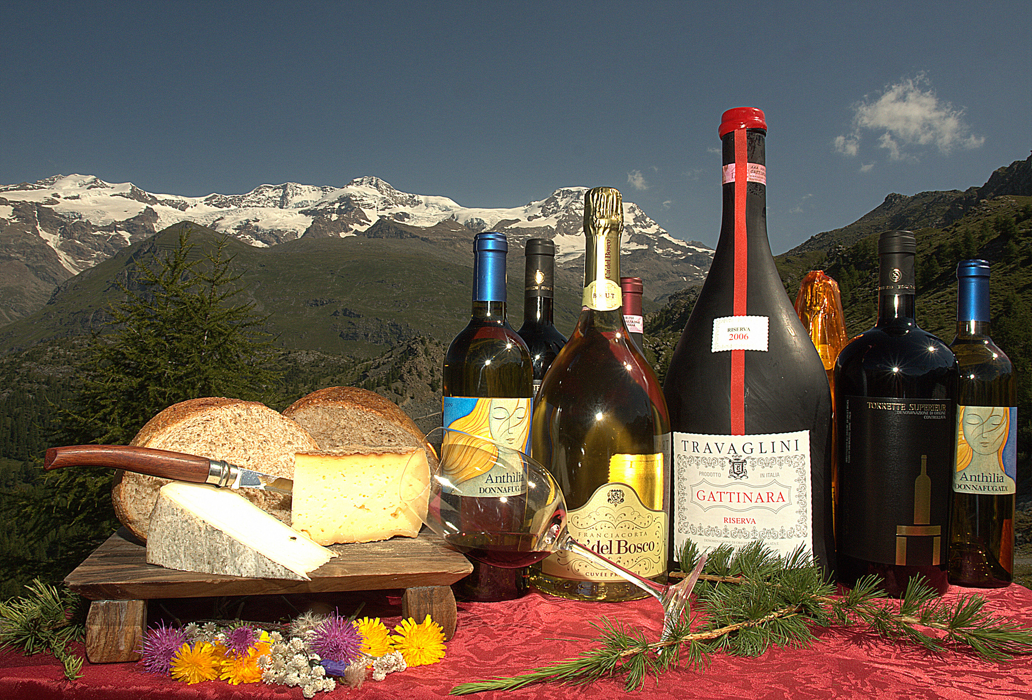 Gattinara mountains piedmont nebbiolo wines
