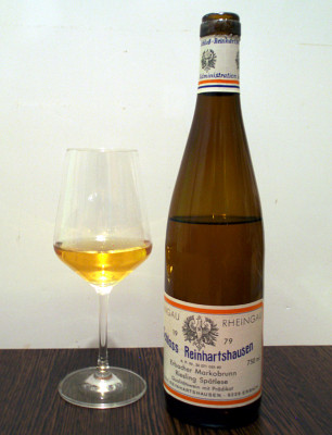 old German Riesling in a glass