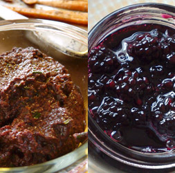 olive-tapenade-vs-blackberry-jam
