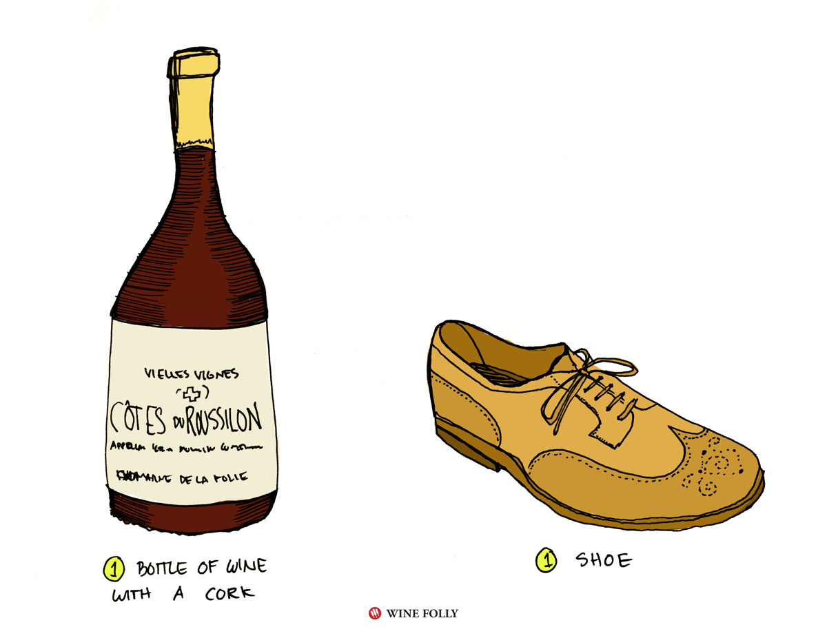 open-wine-with-a-shoe