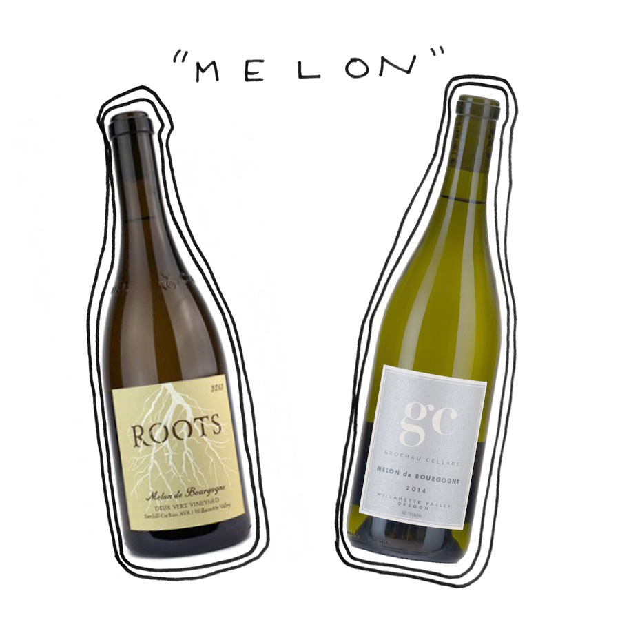 Oregon Melon de Bourgogne white wine
